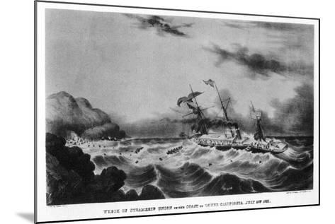The Wreck of the Steamship 'Union' on the Coast of Lower California, 1851-John Henry Bufford-Mounted Giclee Print