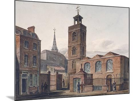 North View of the Church of St James, Duke's Place and Adjacent Buildings, City of London, 1810-John Coney-Mounted Giclee Print