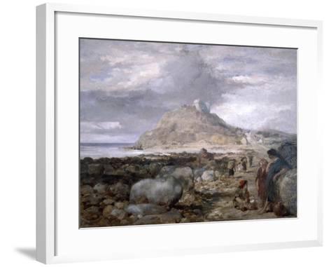 Criccieth Castle, Wales, 1878-John Gilbert-Framed Art Print