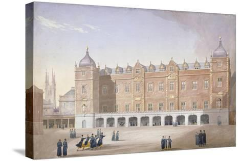 Christ's Hospital School, Newgate Street, City of London, 1831-John Shaw-Stretched Canvas Print