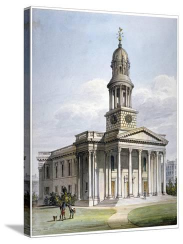 St Marylebone New Church, London, 1816-John Coney-Stretched Canvas Print