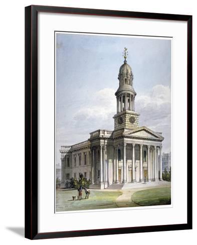 St Marylebone New Church, London, 1816-John Coney-Framed Art Print