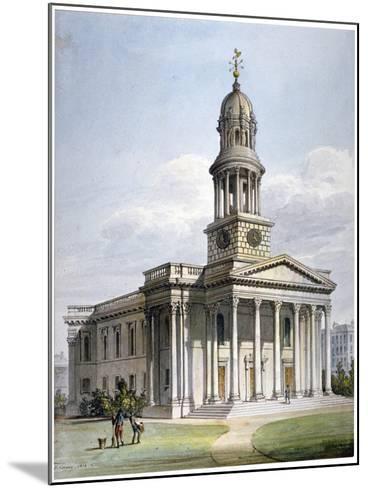 St Marylebone New Church, London, 1816-John Coney-Mounted Giclee Print
