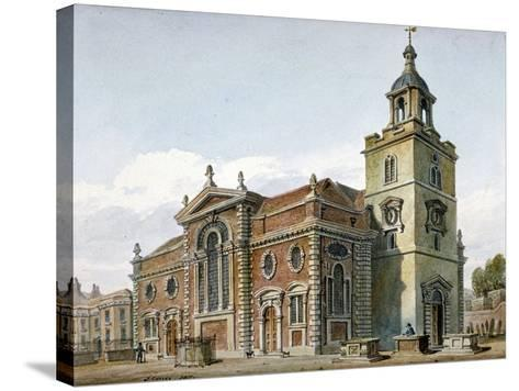 Church of St Mary, Whitechapel, London, 1811-John Coney-Stretched Canvas Print