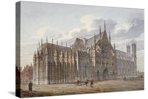 Westminster Abbey, London, 1816-John Coney-Stretched Canvas Print