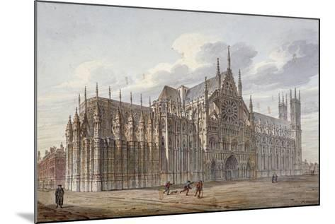 Westminster Abbey, London, 1816-John Coney-Mounted Giclee Print