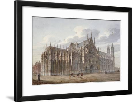 Westminster Abbey, London, 1816-John Coney-Framed Art Print