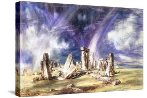 Stonehenge, C1835-John Constable-Stretched Canvas Print