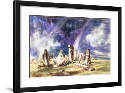 Stonehenge, C1835-John Constable-Framed Art Print