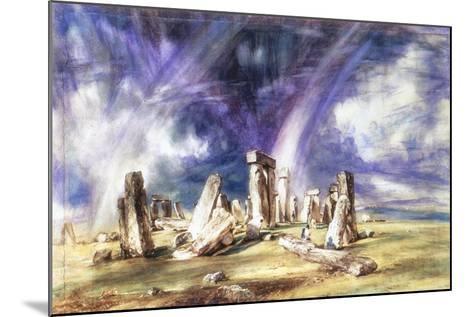 Stonehenge, C1835-John Constable-Mounted Giclee Print