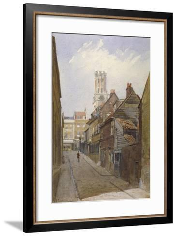 Chigwell Hill, Stepney, London, 1881-John Crowther-Framed Art Print