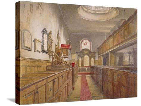 Interior of Holy Trinity, Minories, London, 1881-John Crowther-Stretched Canvas Print