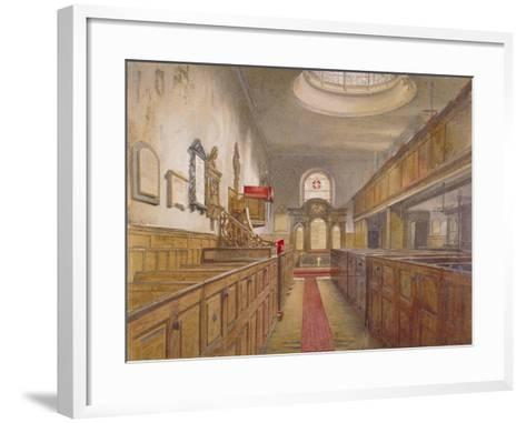 Interior of Holy Trinity, Minories, London, 1881-John Crowther-Framed Art Print