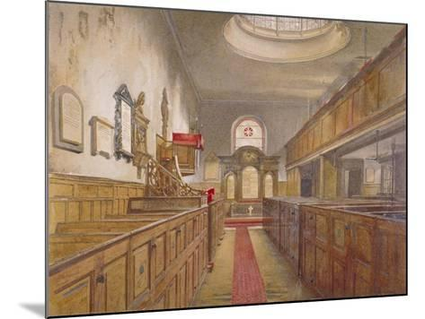 Interior of Holy Trinity, Minories, London, 1881-John Crowther-Mounted Giclee Print