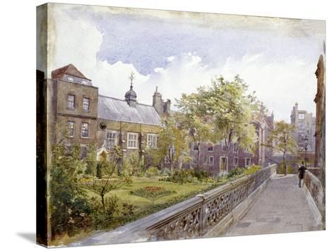 View of the Staple Inn and Garden, London, 1882-John Crowther-Stretched Canvas Print