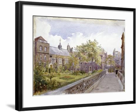 View of the Staple Inn and Garden, London, 1882-John Crowther-Framed Art Print