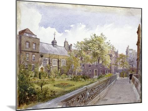 View of the Staple Inn and Garden, London, 1882-John Crowther-Mounted Giclee Print