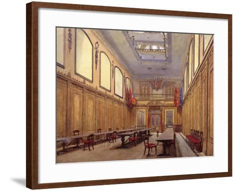 Interior of Skinners' Hall, London, 1890-John Crowther-Framed Art Print