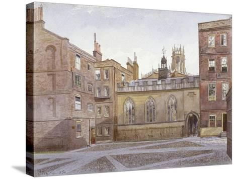 View of Clifford's Inn and Hall, London, 1884-John Crowther-Stretched Canvas Print