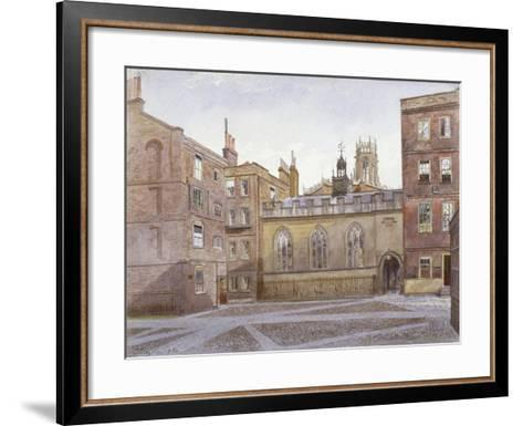 View of Clifford's Inn and Hall, London, 1884-John Crowther-Framed Art Print