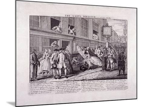 The Lady's Disaster, 1747-John June-Mounted Giclee Print