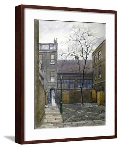 Barnard's Inn, London, 1886-John Crowther-Framed Art Print