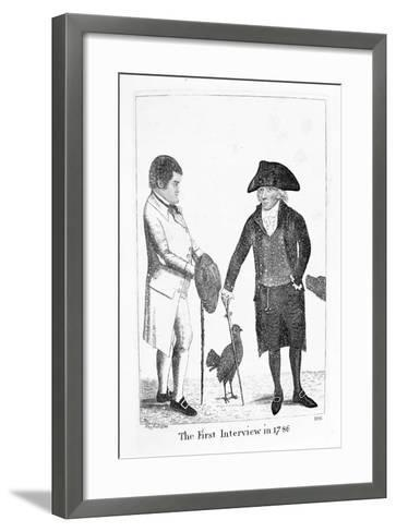 The First Interview in 1786' Between Deacon Brodie and George Smith, 1788-John Kay-Framed Art Print