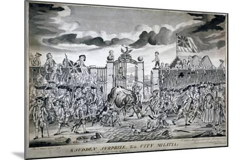A Sudden Surprize to the City Militia, 1774-John Nixon-Mounted Giclee Print
