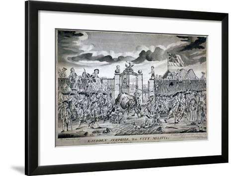 A Sudden Surprize to the City Militia, 1774-John Nixon-Framed Art Print