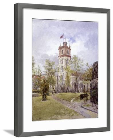 St Giles Without Cripplegate, London, 1882-John Crowther-Framed Art Print