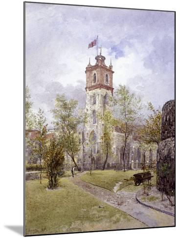 St Giles Without Cripplegate, London, 1882-John Crowther-Mounted Giclee Print