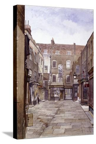 Leather Sellers' Buildings, London Wall, London, 1883-John Crowther-Stretched Canvas Print