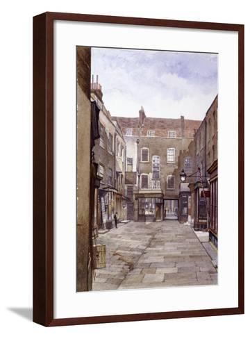 Leather Sellers' Buildings, London Wall, London, 1883-John Crowther-Framed Art Print