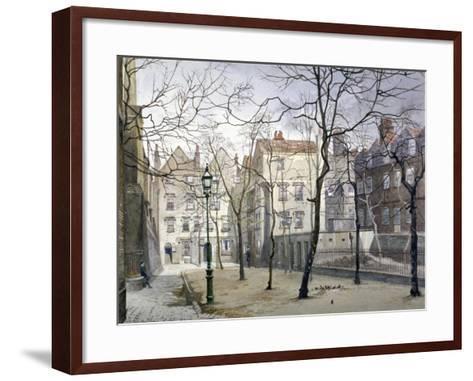 Barnard's Inn, London, 1888-John Crowther-Framed Art Print