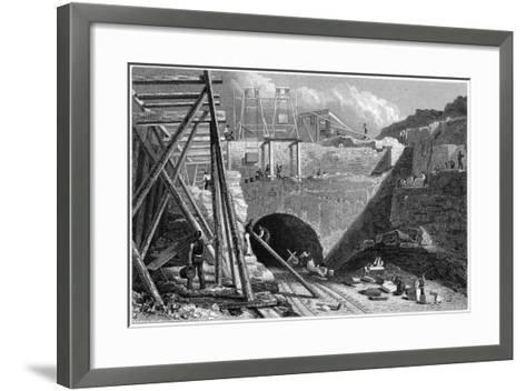 Entrance to the Tunnel of the Liverpool and Manchester Railway, Edge Hill, Liverpool, C1820S-John Davies-Framed Art Print