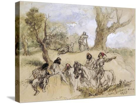 Banditti, 1873-John Gilbert-Stretched Canvas Print
