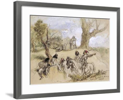 Banditti, 1873-John Gilbert-Framed Art Print