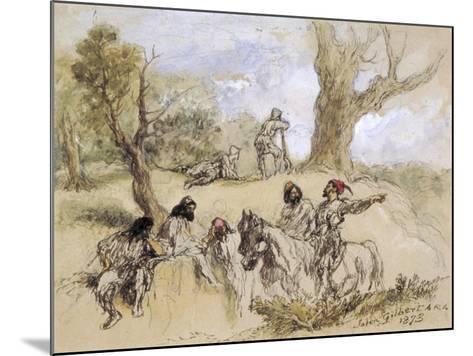 Banditti, 1873-John Gilbert-Mounted Giclee Print