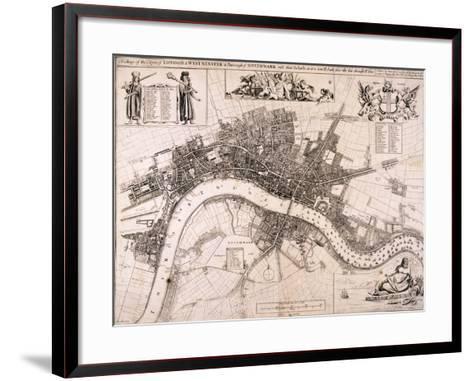 Map of London, C1680-John Oliver-Framed Art Print
