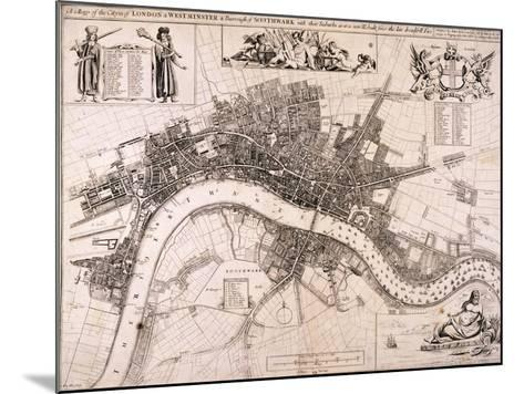 Map of London, C1680-John Oliver-Mounted Giclee Print