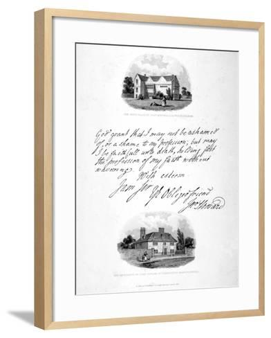 Two Vignettes Relating to the 18th Century Philanthopist and Prison Reformer John Howard, 1836-John Charles Smith-Framed Art Print