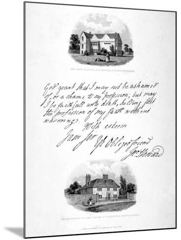 Two Vignettes Relating to the 18th Century Philanthopist and Prison Reformer John Howard, 1836-John Charles Smith-Mounted Giclee Print