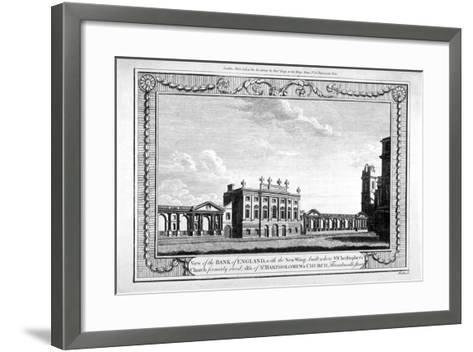 View of the Bank of England Showing the New Wing, 1790-John Peltro-Framed Art Print