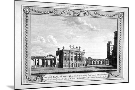 View of the Bank of England Showing the New Wing, 1790-John Peltro-Mounted Giclee Print
