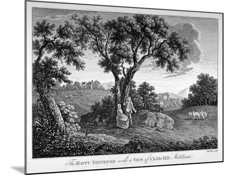 Childs Hill, Hampstead Heath, London, 1786-John Peltro-Mounted Giclee Print