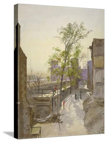 View of Store Rooms Looking West from Cradle Tower, Tower of London, Stepney, London, 1883-John Crowther-Stretched Canvas Print