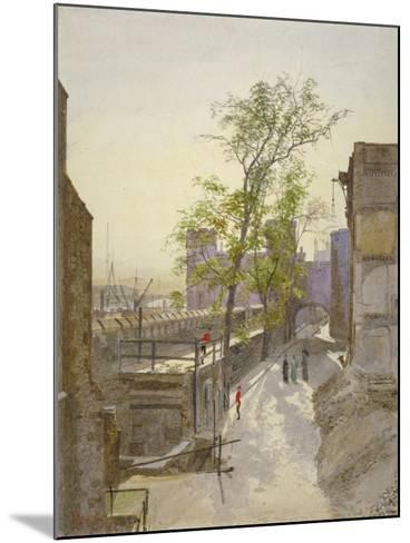 View of Store Rooms Looking West from Cradle Tower, Tower of London, Stepney, London, 1883-John Crowther-Mounted Giclee Print