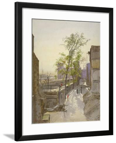 View of Store Rooms Looking West from Cradle Tower, Tower of London, Stepney, London, 1883-John Crowther-Framed Art Print