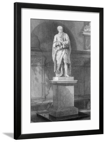Statue of Sir Isaac Newton, English Mathematician, Astronomer and Physicist, 19th Century-John Le Keux-Framed Art Print