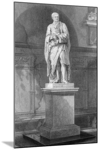 Statue of Sir Isaac Newton, English Mathematician, Astronomer and Physicist, 19th Century-John Le Keux-Mounted Giclee Print